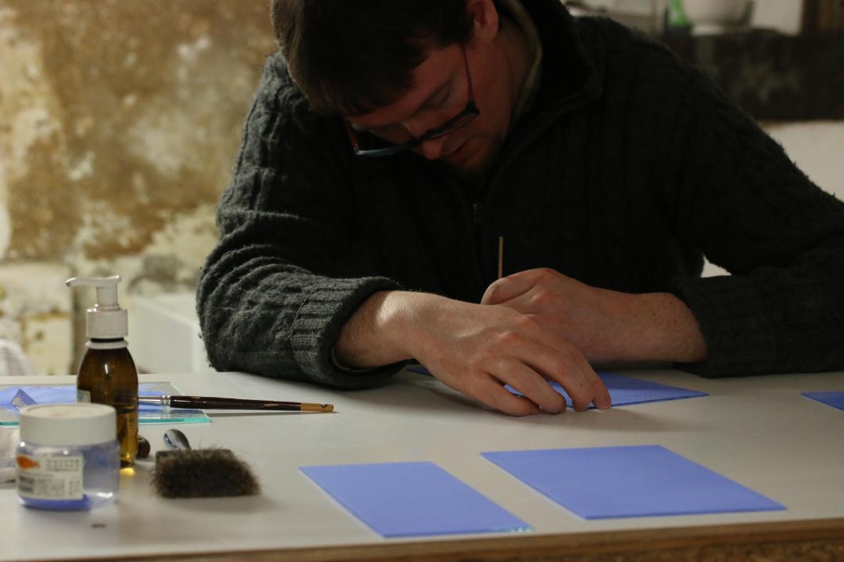 Grégoire Duchamp au travail